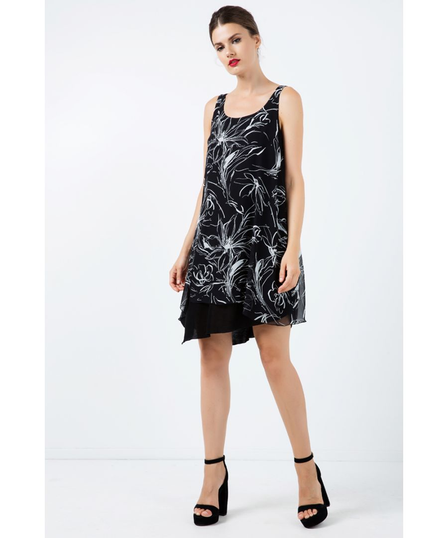 Image for Sleeveless Print Layer Dress