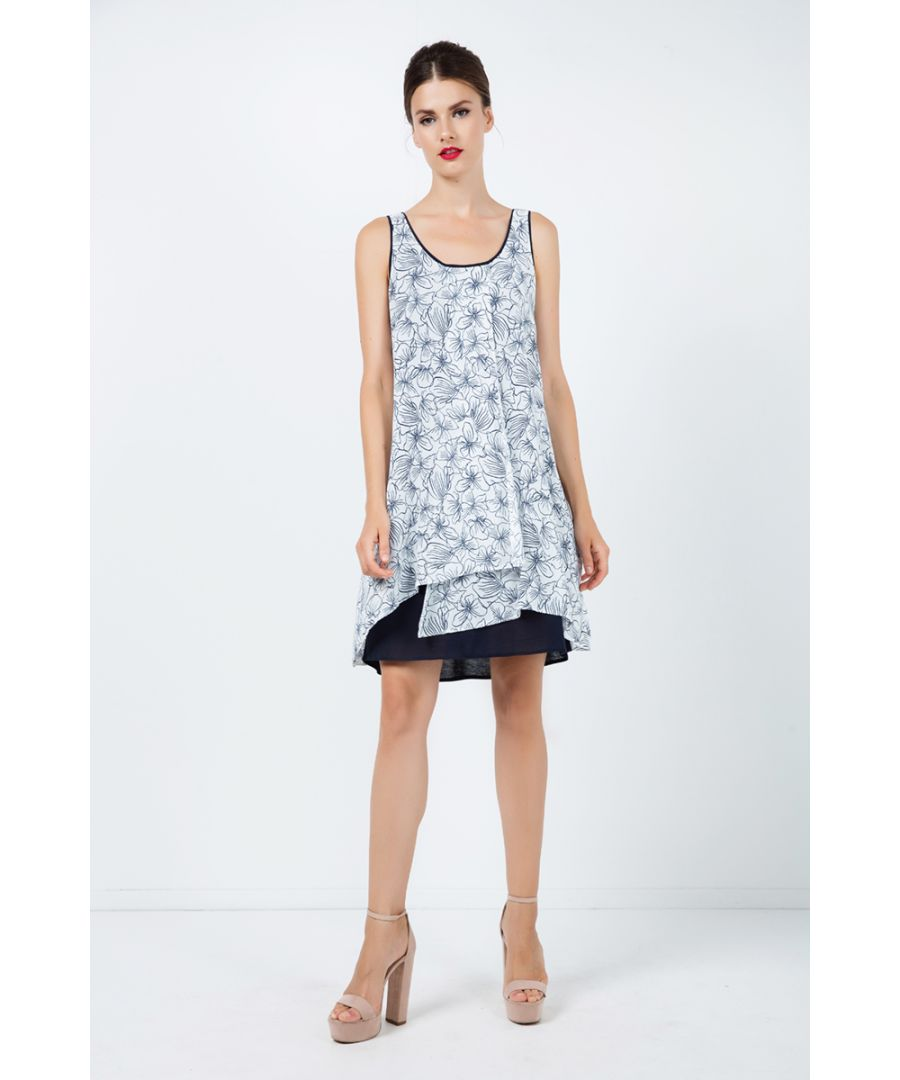 Image for Loose Fit Floral Layer Dress