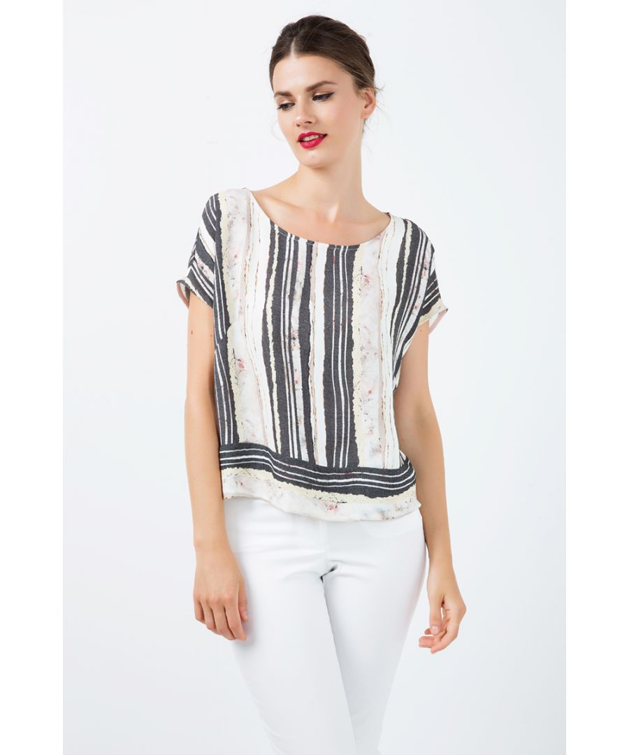 Image for Loose Fitting Sleeveless Striped Top
