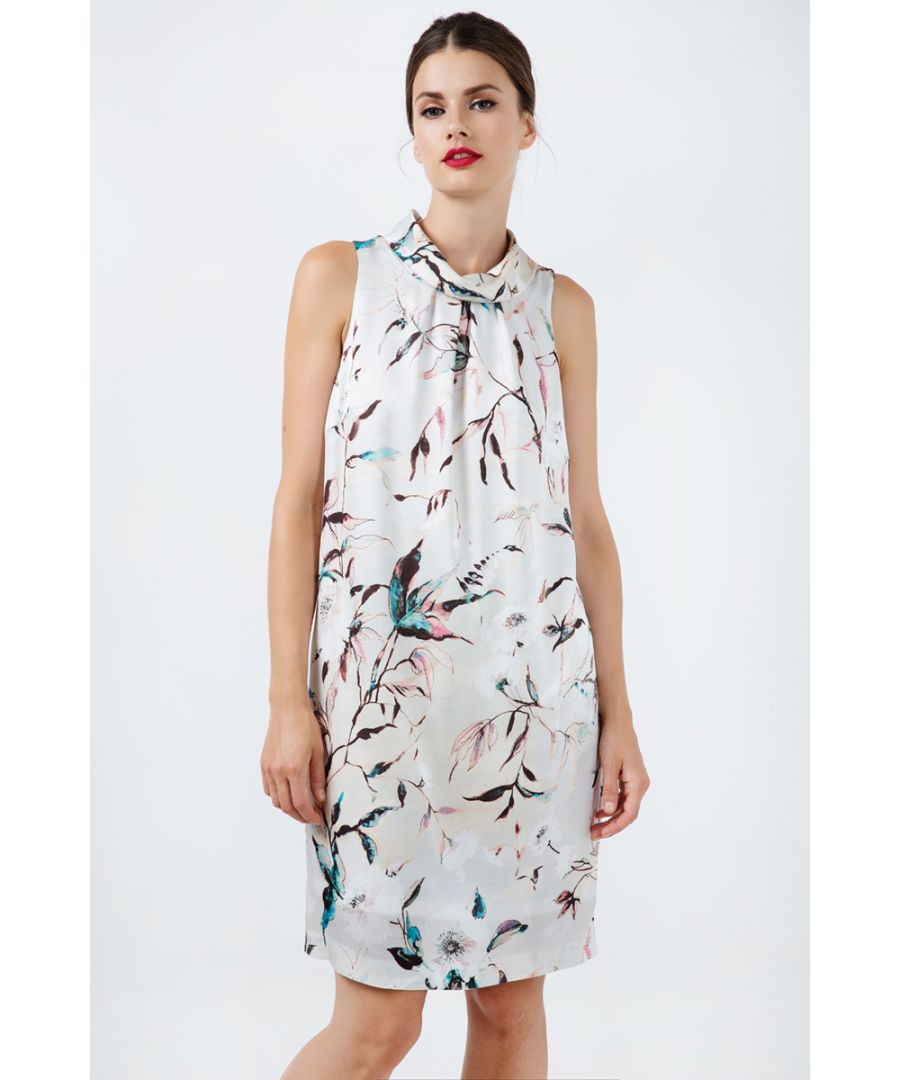 Image for Straight Sleeveless Satin Dress