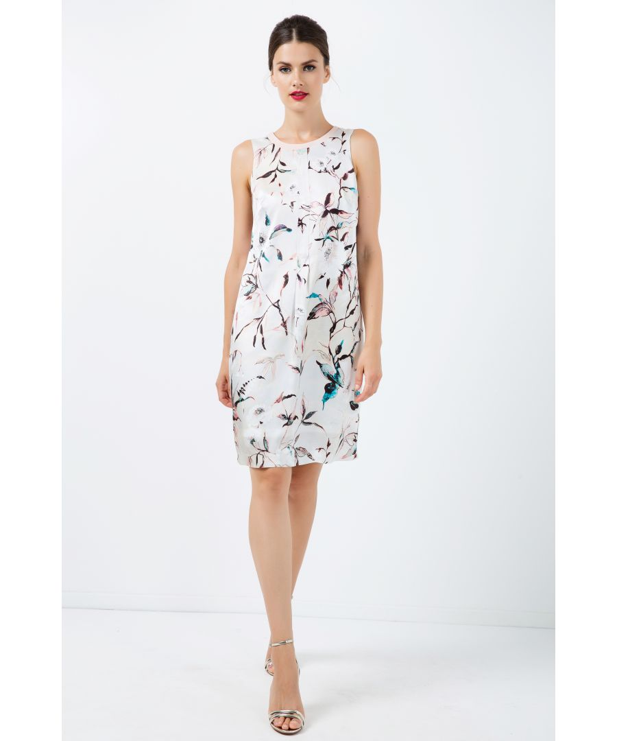 Image for A Line Sleeveless Satin Dress