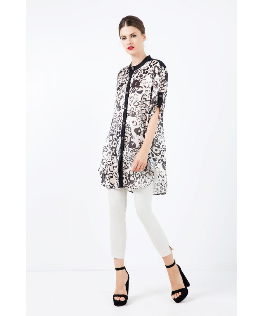 Image for Long Summer Shirt in Leopard Print