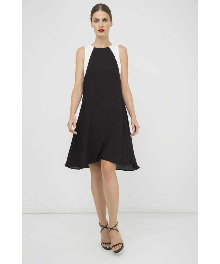 Image for Sleeveless A Line Black Dress