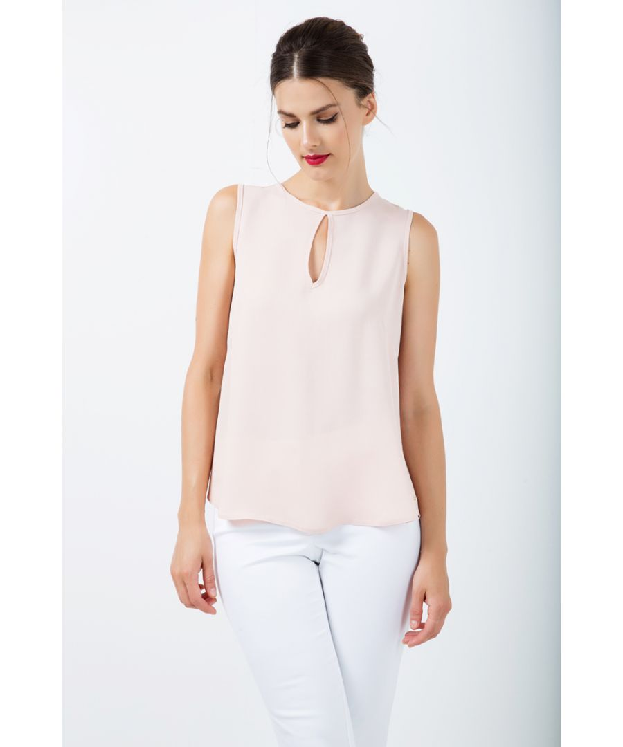 Image for Keyhole Detail Sleeveless Top