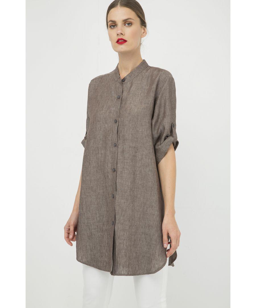 Image for Long Linen Shirt