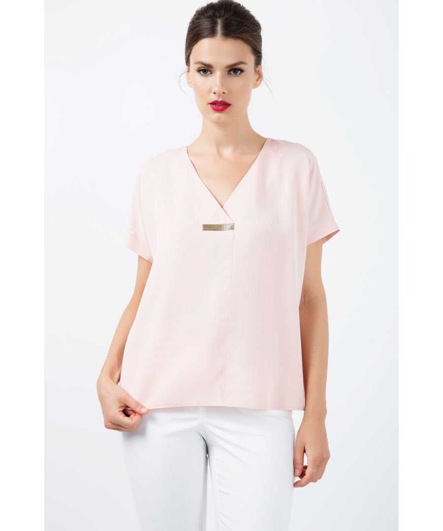 Image for Short Sleeve top with V Neck Detail