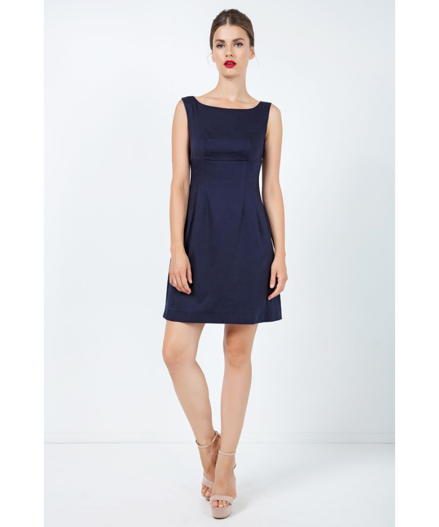 Image for Navy Blue Sleeveless Empire Line Dress