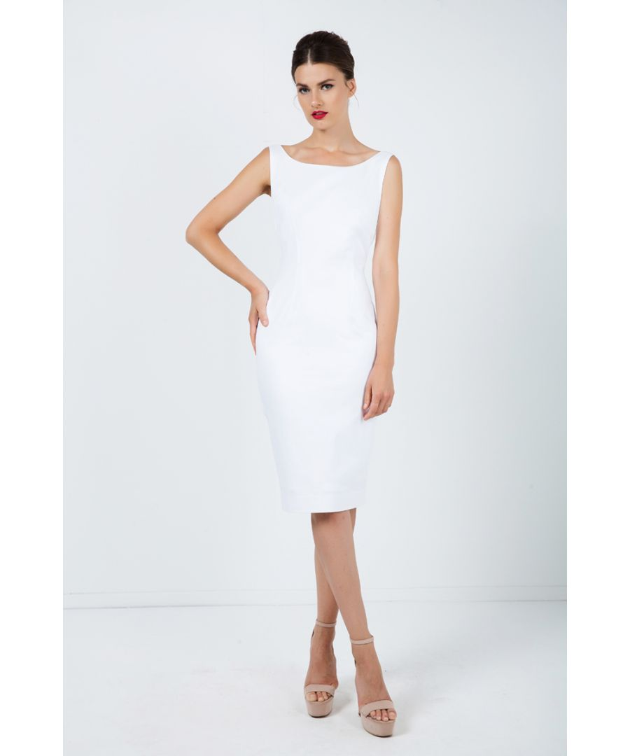 Image for Fitted Sleeveless Dress with Two-Way Zip