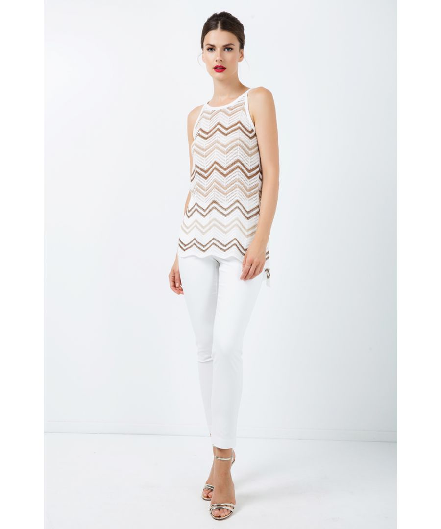Image for Zig Zag Sleeveless Knit Top