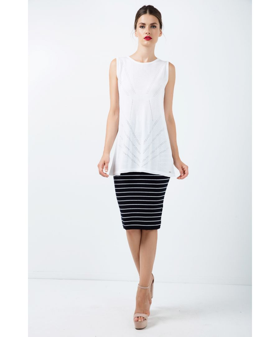Image for Long Sleeveless Knit Top