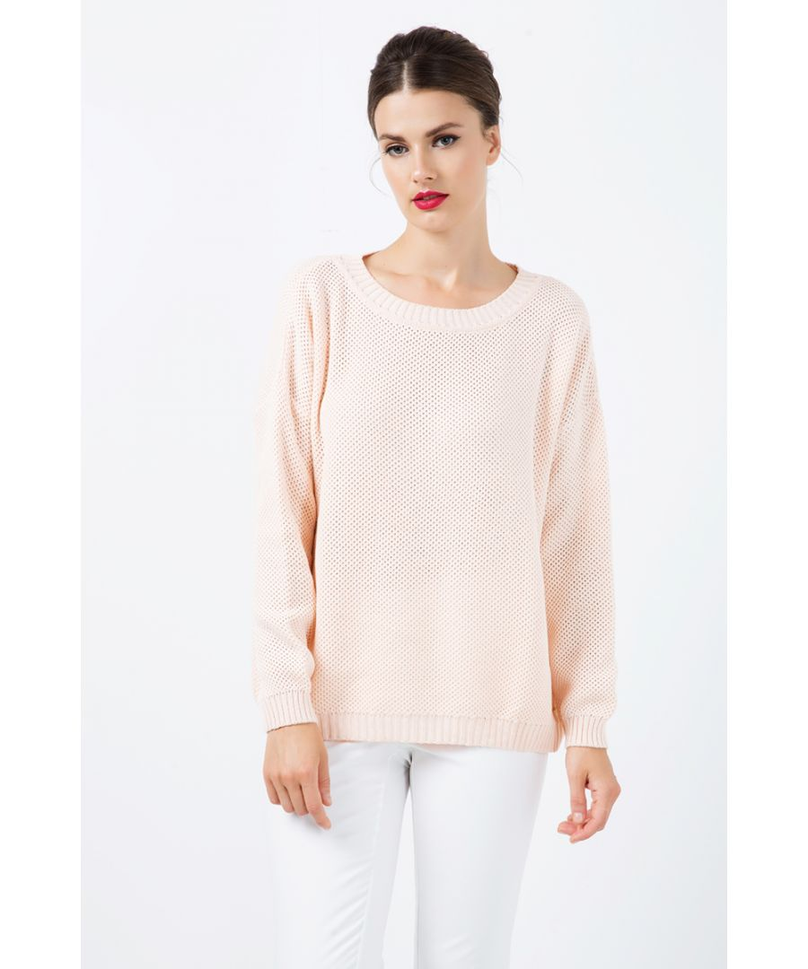 Image for Loose Long Sleeve Apricot Sweater