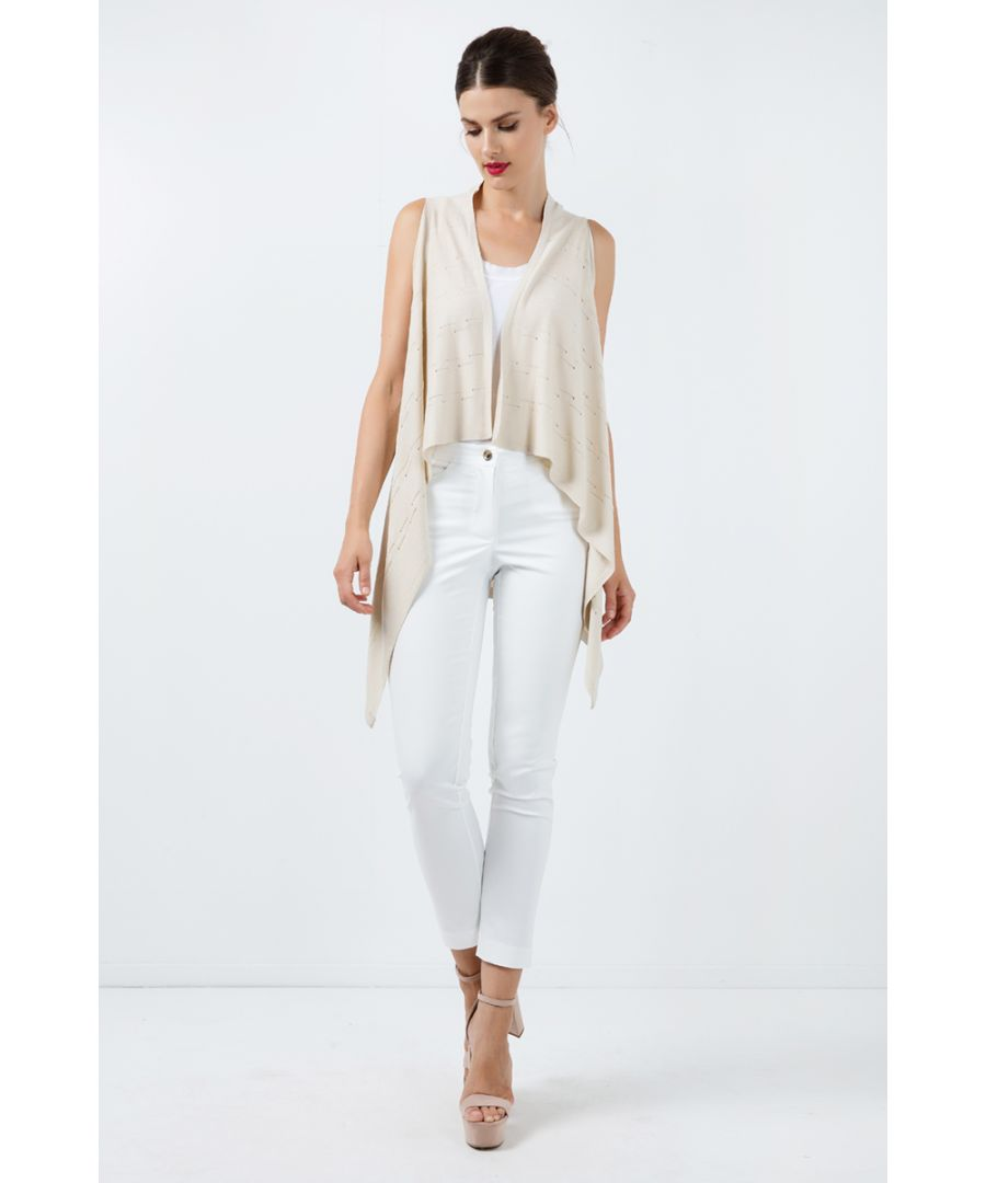 Image for Sleeveless Drape Cardigan