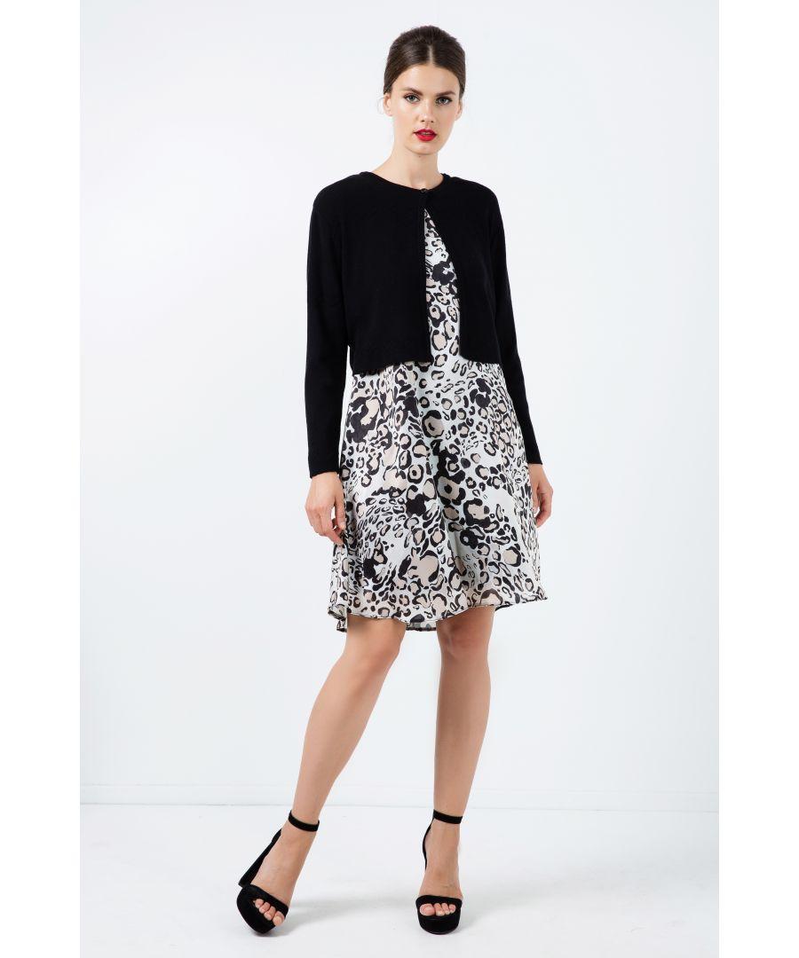 Image for Zigzag Black Knit Cardigan