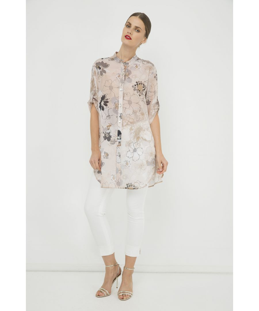 Image for Long Print Shirt with Side Slits