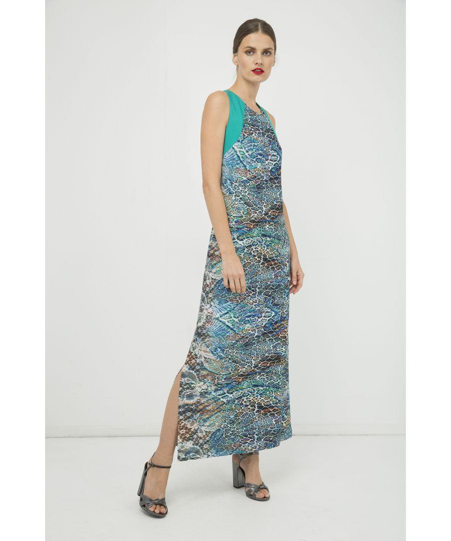 Image for Sleeveless Print Maxi Dress