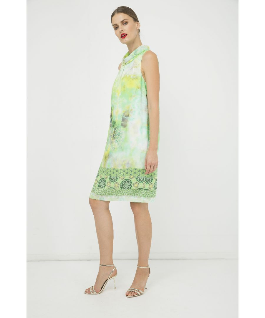 Image for Straight Sleeveless Print Dress