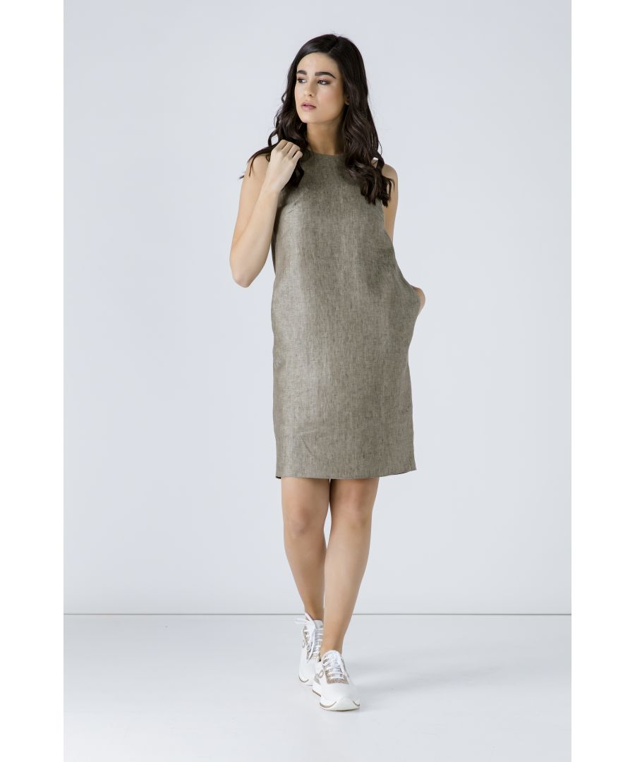 Image for Sleeveless Sack Dress with Pockets