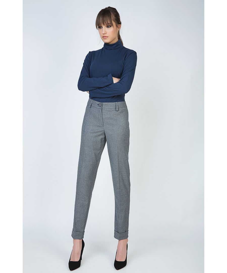 Image for Tapered Pants with Turn-Ups