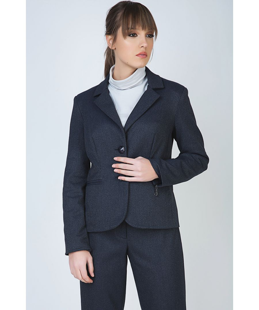 Image for Button Blazer with Zip Detail