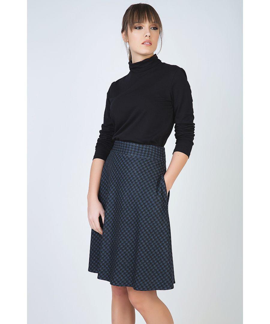 Image for Check Flare Skirt