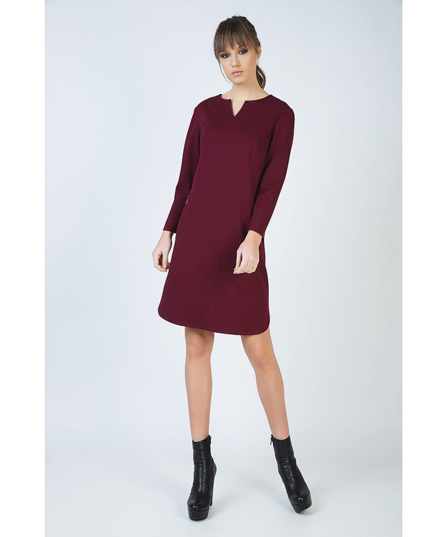 Image for Long Sleeve Sack Dress in Punto di Roma Fabric