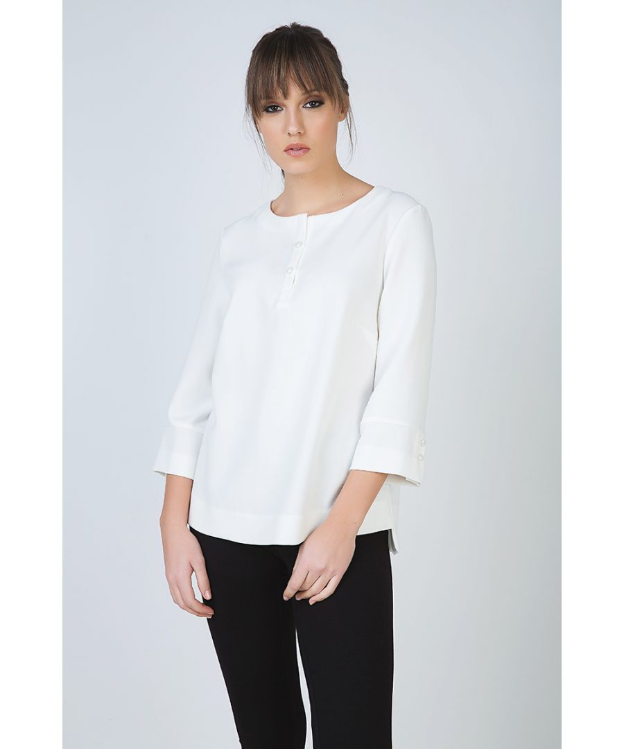 Image for Button Detail Top in Crepe Fabric