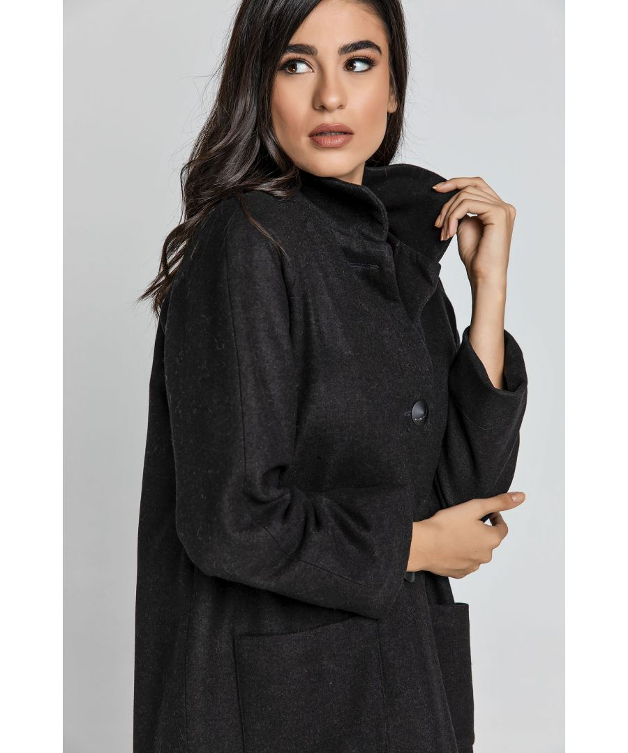 Image for Black Blend  Coat by Conquista