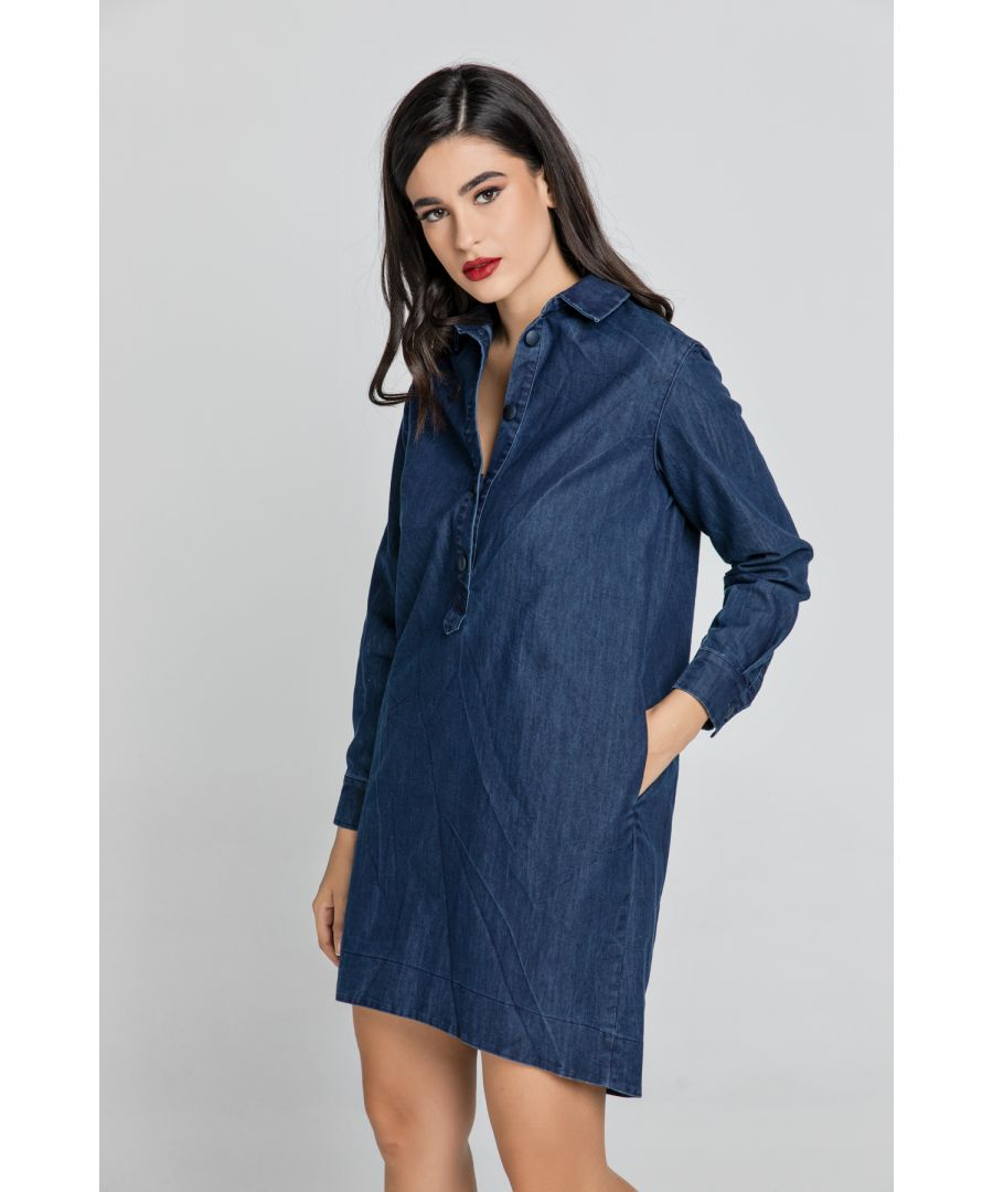 Image for Denim Shirt Dress by Conquista Fashion