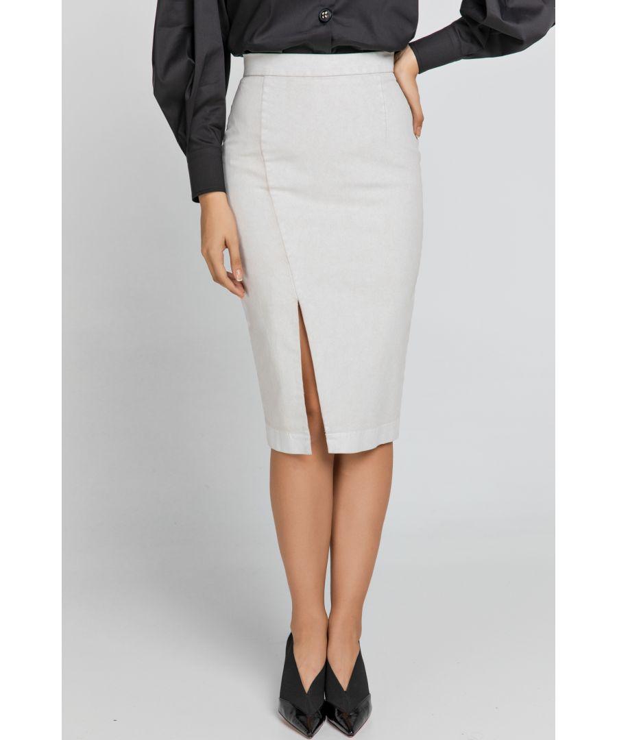 Image for Cream Pencil Skirt
