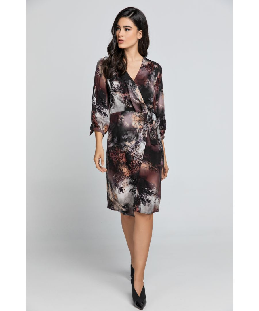 Image for Print Wrap Dress