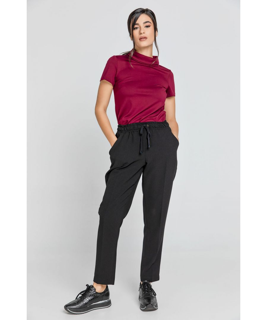 Image for Black Crepe Pants by Conquista
