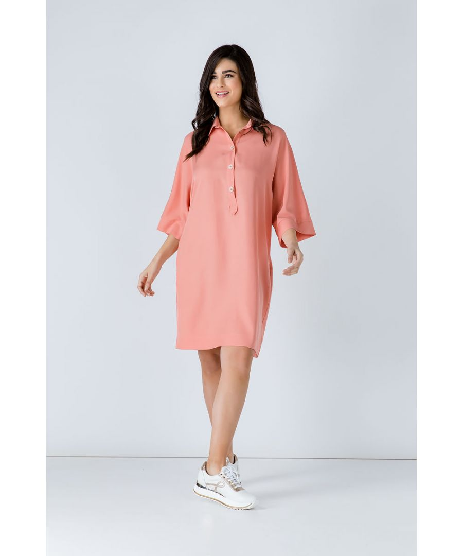 Image for Oversized Coral Tencel Dress