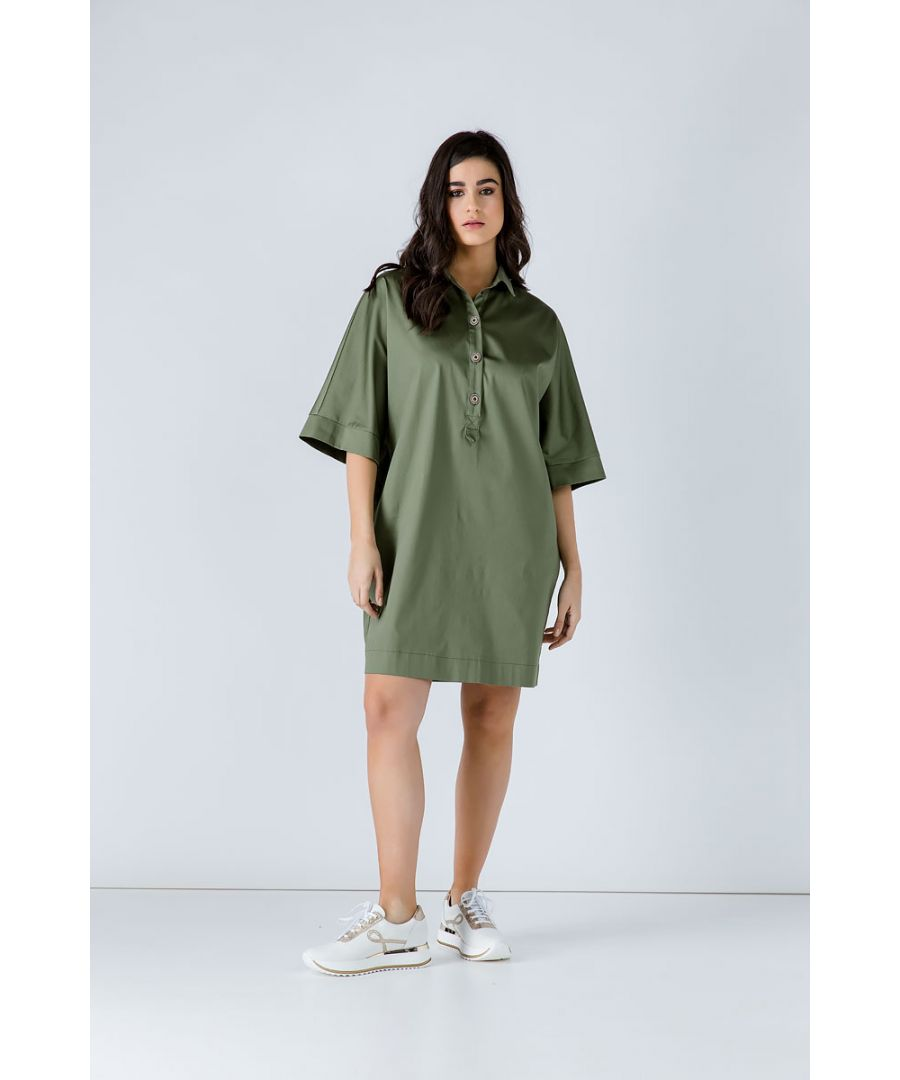 Image for Oversized Khaki Dress