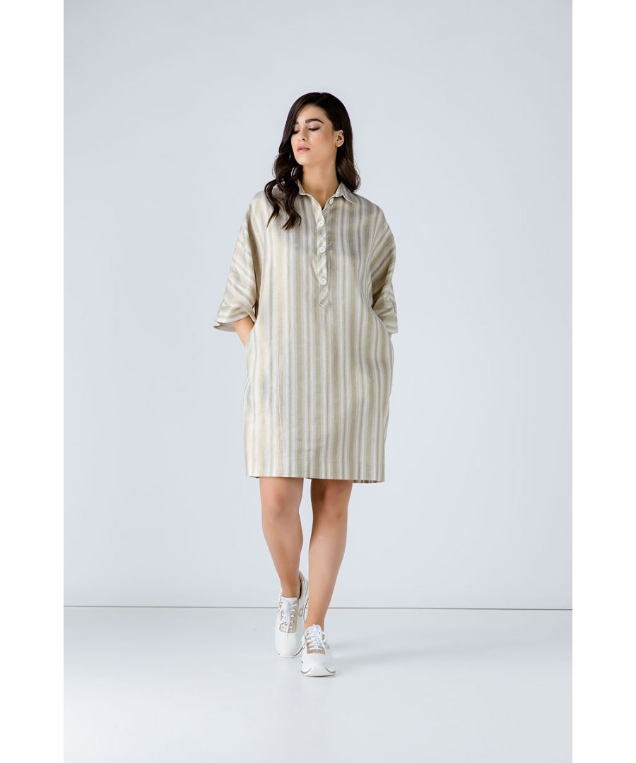 Image for Oversized Striped Dress