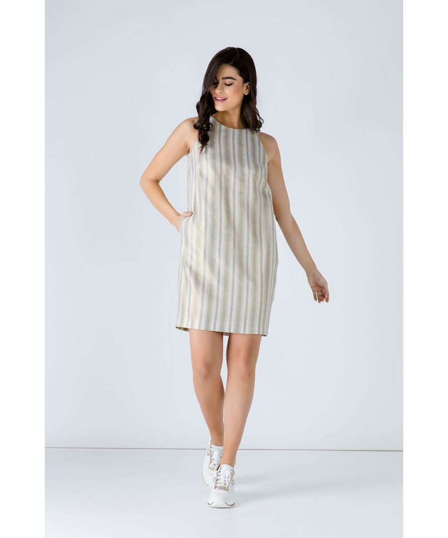 Image for Striped Sleeveless Sack Dress