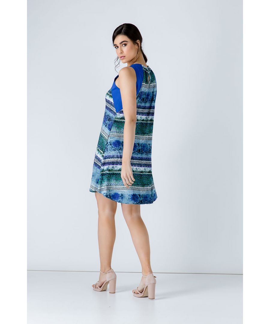 Image for Royal Blue Print Dress