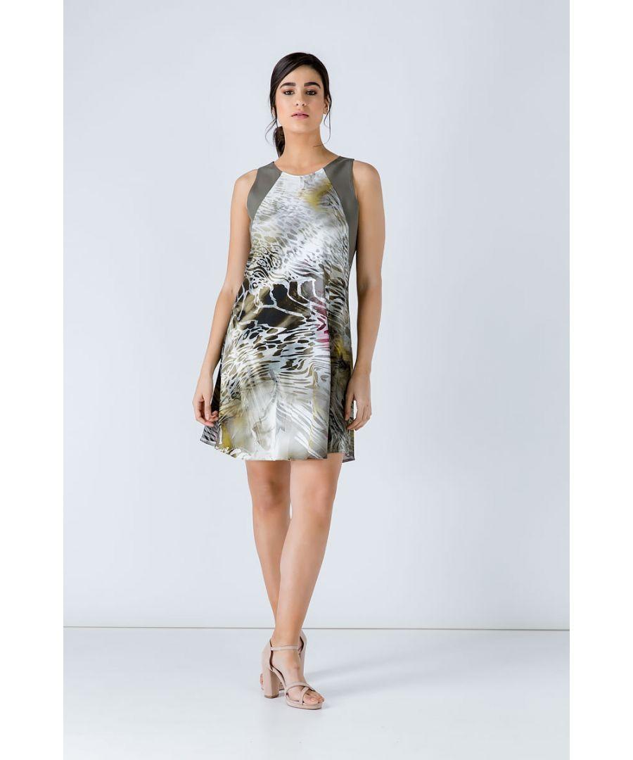 Image for Khaki  Animal Print Dress
