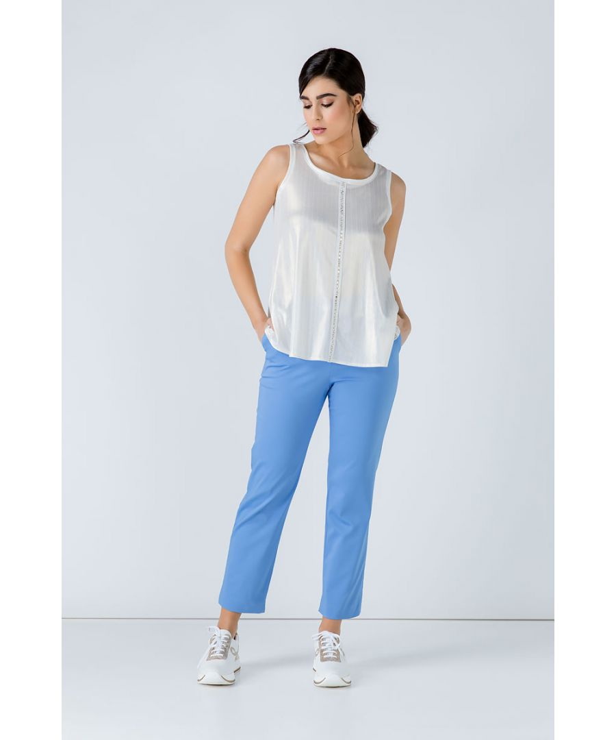 Image for Sleeveless Foil Top