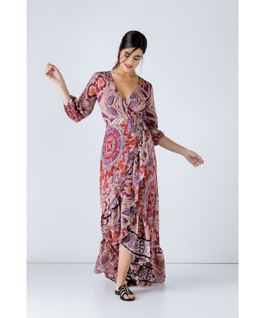 Image for Print Maxi Wrap Dress