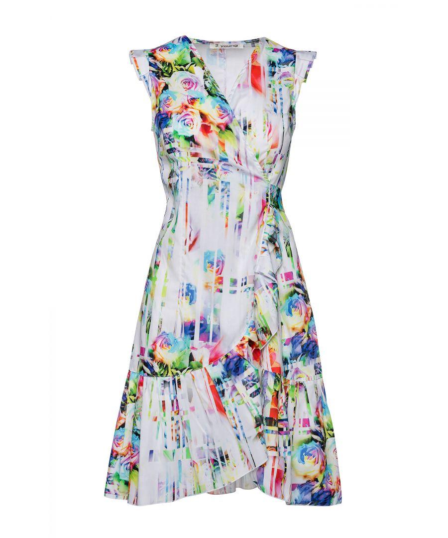 Image for Poplin Floral Wrap Dress