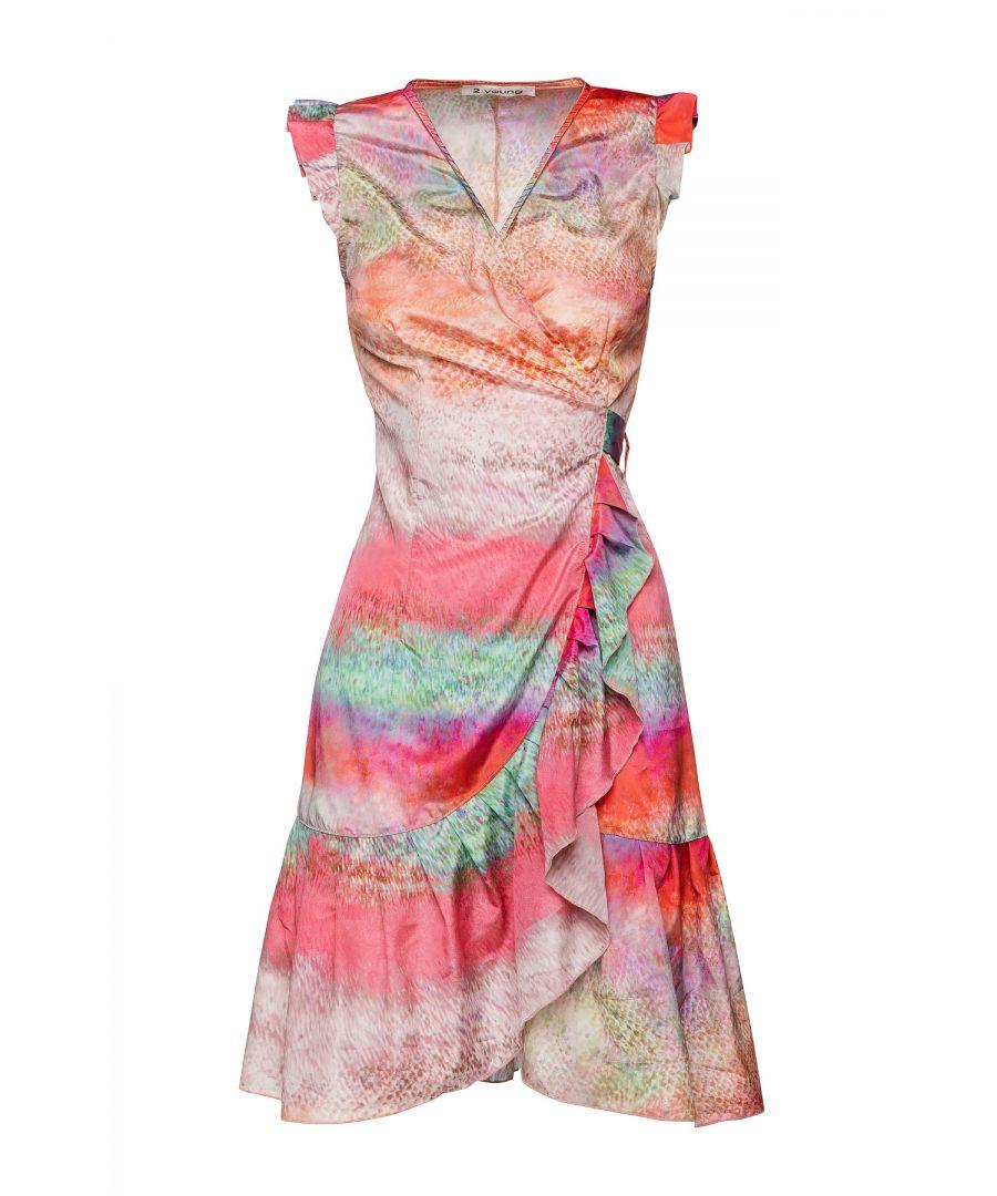 Image for Print Wrap Dress