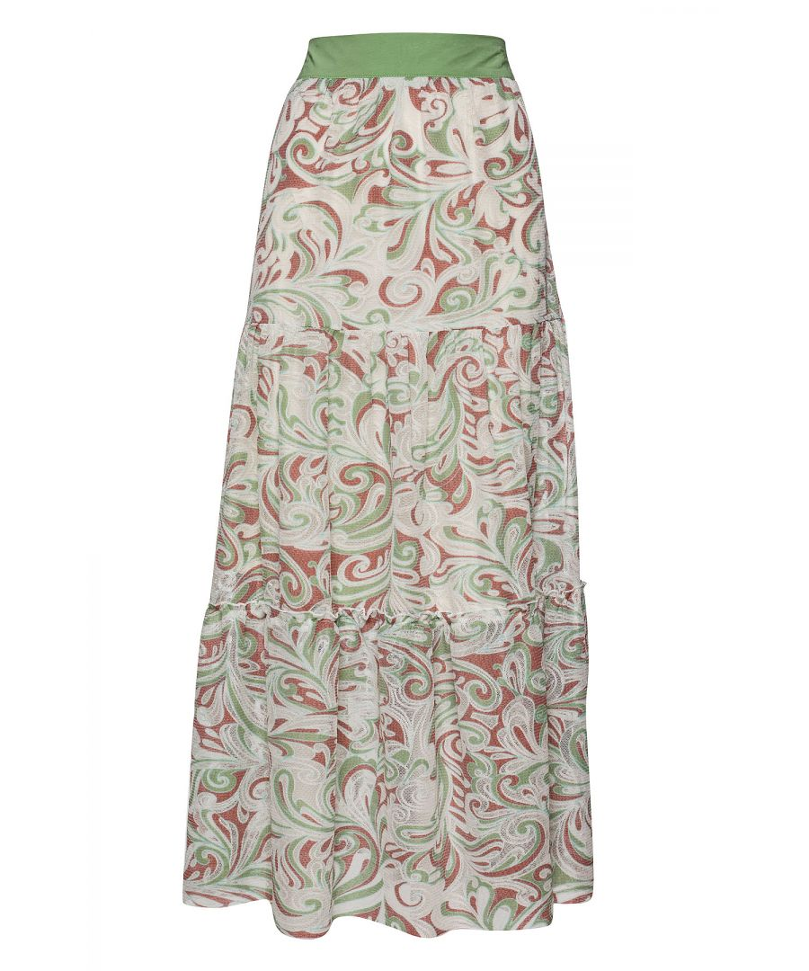 Image for Paisley A Line Maxi Skirt