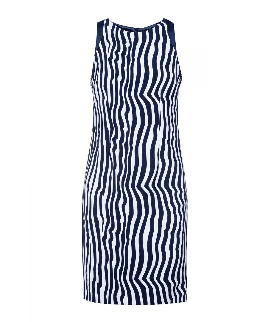 Image for Sleeveless Zebra Print Dress