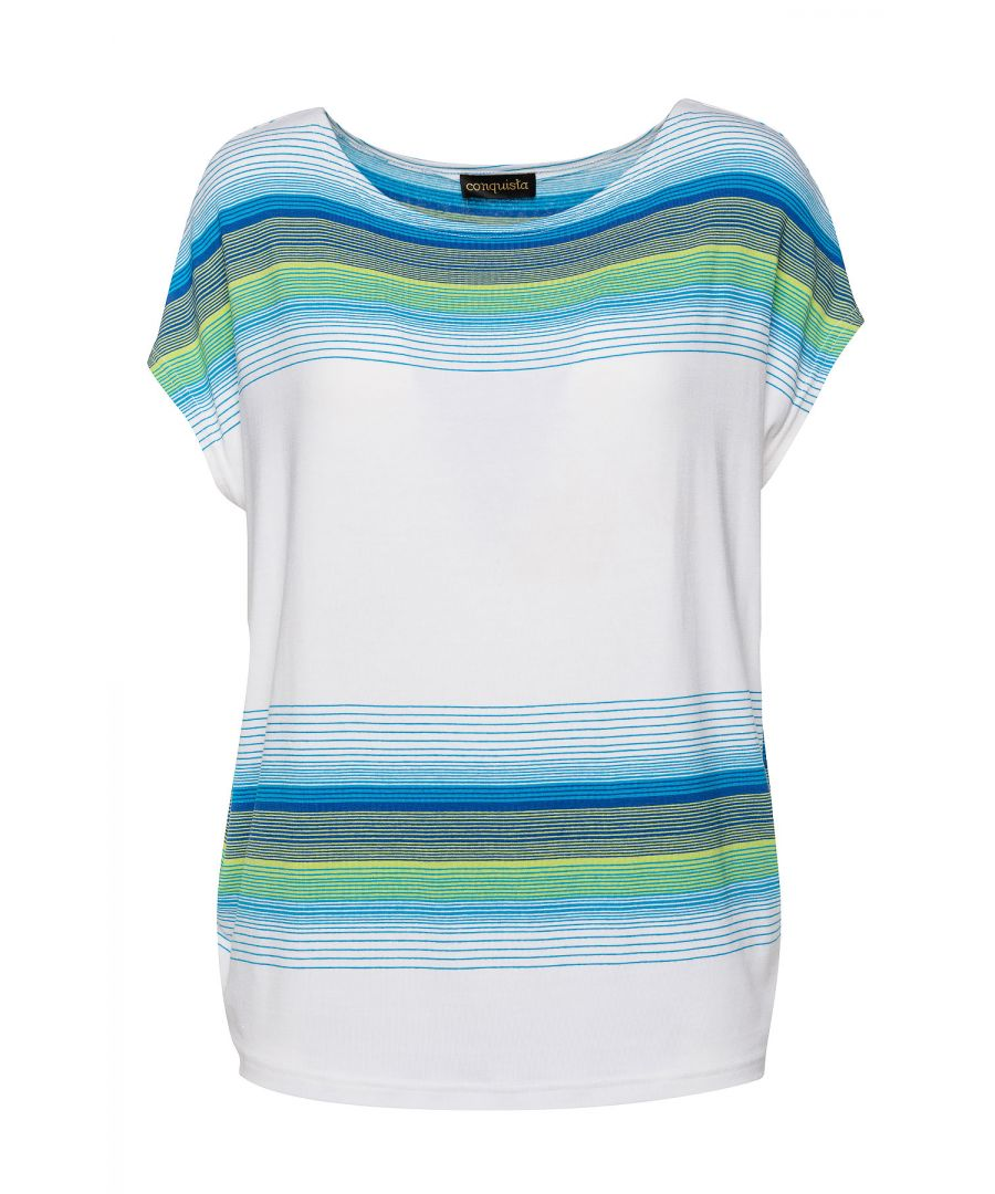 Image for White Sleeveless Top with Striped Print