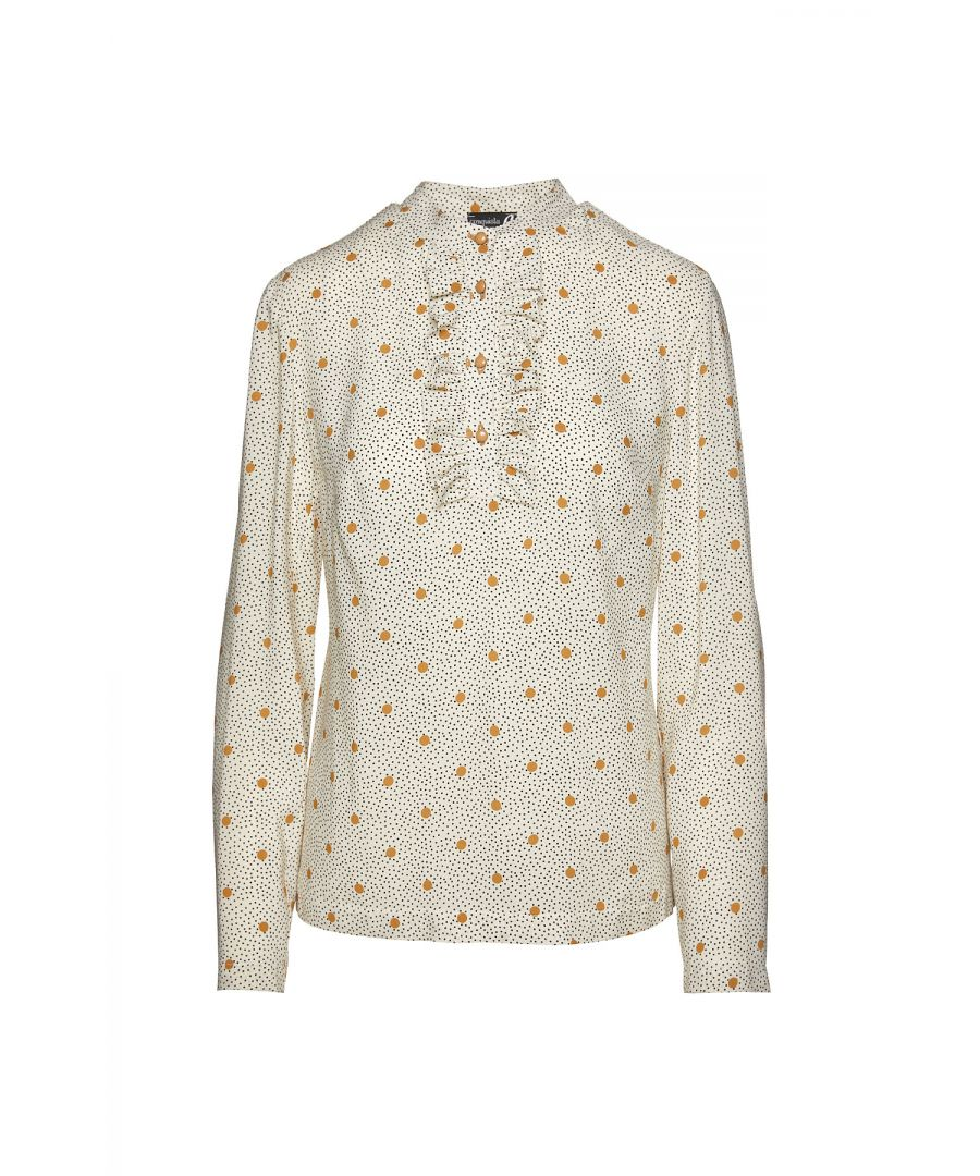 Image for Print Blouse with Ruffle Detail