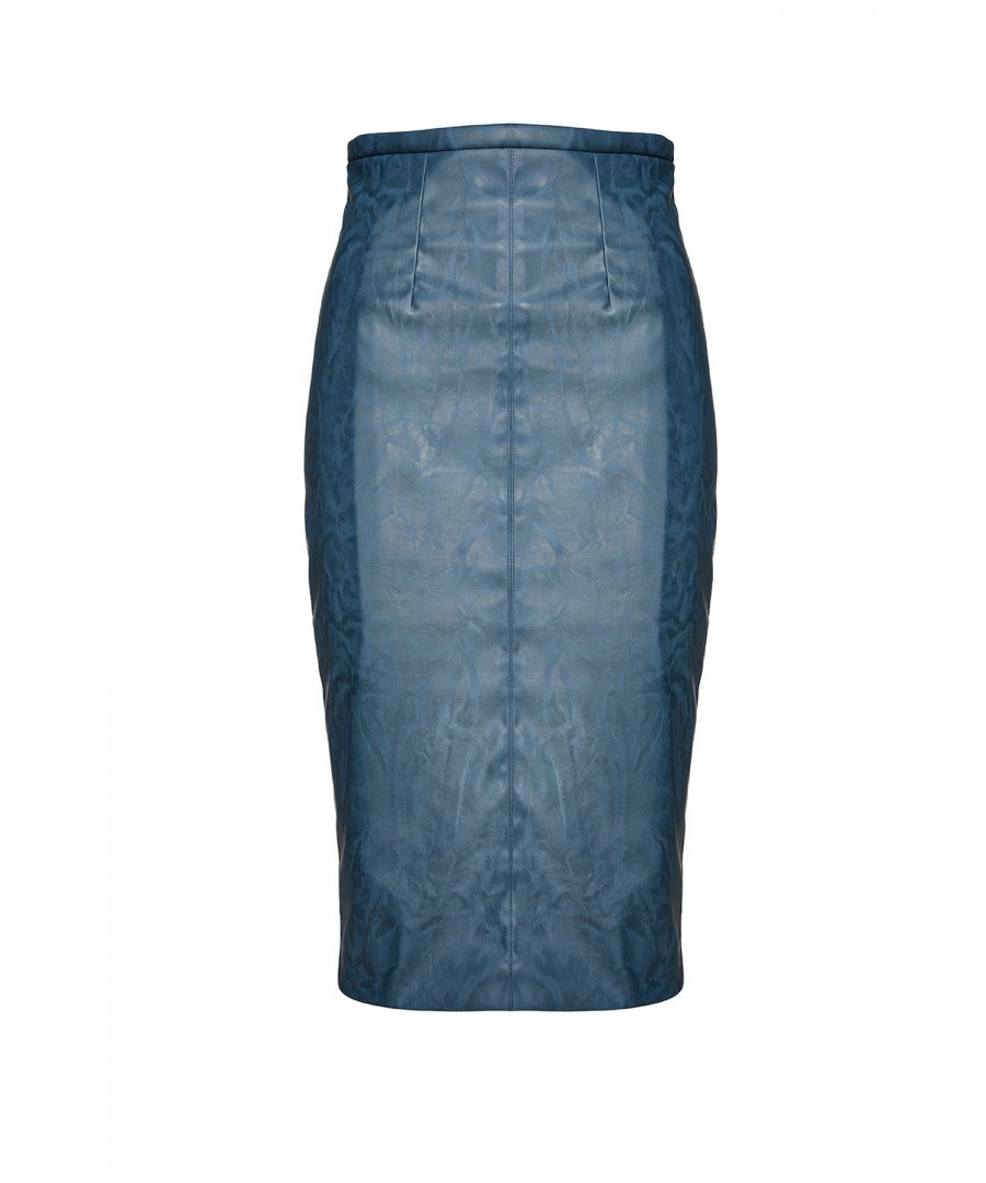Image for Faux Leather High Waist Pencil Skirt