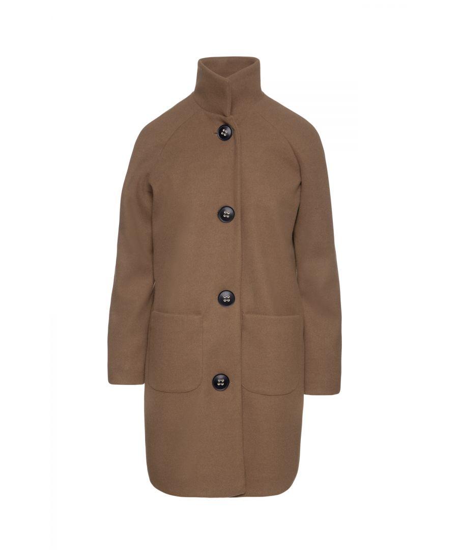 Image for Faux Mouflon Camel Coat by Conquista Fashion