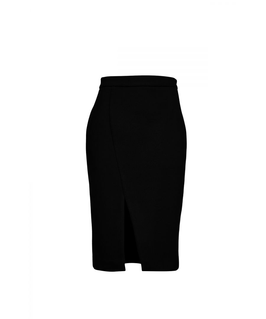 Image for Black Mouflon Pencil Skirt
