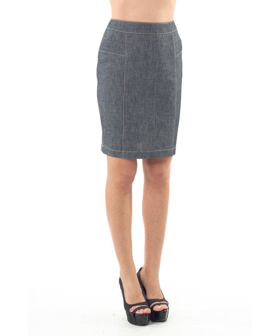 Image for Stitch Detail Straight Skirt