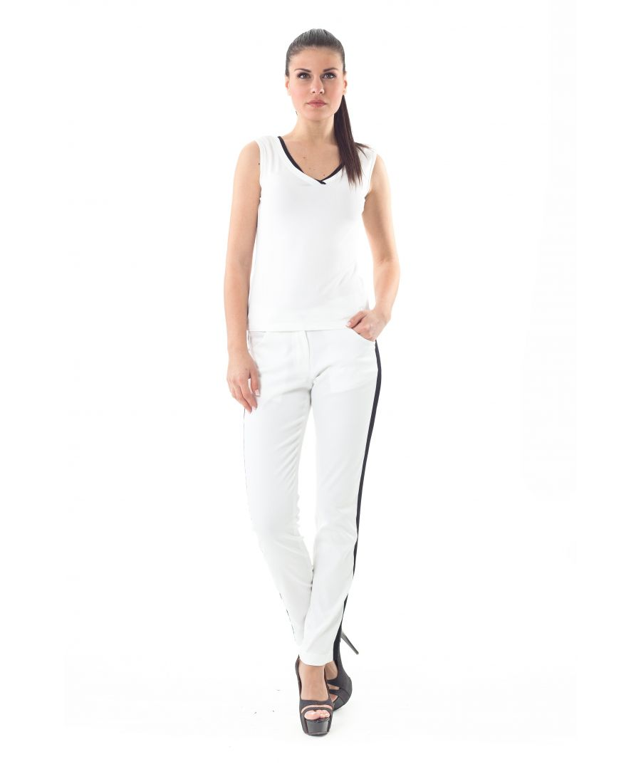 Image for High-Waisted Cotton Pants